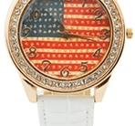 Armbandsklocka  Blingbling- USA Vit