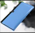 Läcker plånbok i Glossy PU-läder - Ljusblå