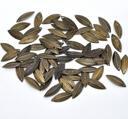 Berlock, brons - Små böjda löv