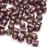 Seedbeads  silverlined-  RosyBrown 3mm 8/0