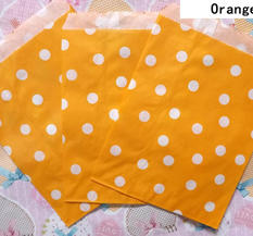 Papperspåse Orange Prickig, retro