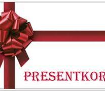 Presentkort 1000kr