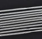 Kedja - smal silver 2,2mmx3mm , 1 m