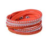 Snyggt armband med nitar & strass!  Orange