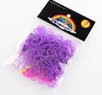 Loom gummiband , 260st , Fluorescerande Neon Lila