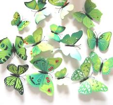 Dekor - Fjärilar, Grön