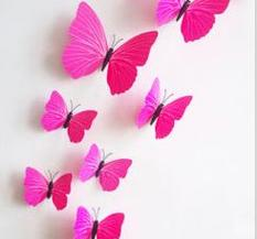 Dekor - Fjärilar, Rosa