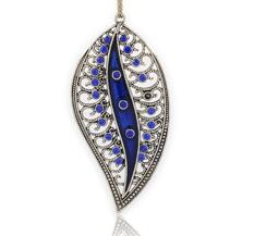 Stort Lyxhänge - Blue Leaf