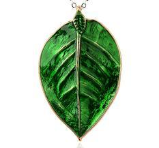 Stort Lyxhänge - Löv, Mossgrön
