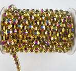 Strass-Kedja Guld- Metallic AB  6mm