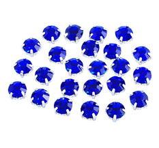 Montees / krysspärlor / Sew-ons. 5,7mm  Mörkblå